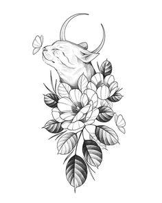 tattoo designs drawings \ tattoo designs & tattoo designs men & tattoo designs for women & tattoo designs unique & tattoo designs men forearm & tattoo designs men sleeve & tattoo designs drawings & tattoo designs men arm Cat Tattoo Designs, Unique Tattoo Designs, Tattoo Design Drawings, Tattoo Sleeve Designs, Unique Tattoos, Beautiful Tattoos, Sleeve Tattoos, Mädchen Tattoo, Hamsa Tattoo