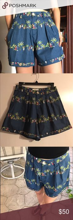 Rachel Antonoff Shorts Rachel Antonoff, pleated, printed, cuffed shorts. Zipper on the front with button. These shorts are so comfy & are in perfect condition. Never been worn! Extra button bag is still attached on label. Rachel Antonoff Shorts