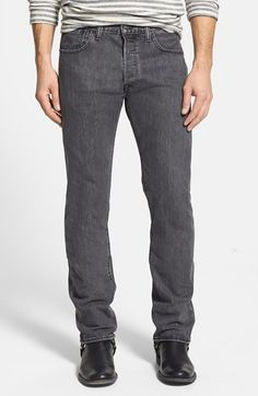T2~Levi's® '501® Original' Straight Leg Jeans (New Metal)