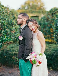 vibrant and playful wedding inspiration shot by Michelle March Photography
