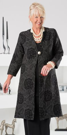 Kasbah black/grey jacquard coat at Box 2