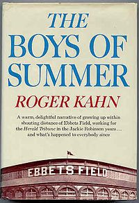 The Boys of Summer is a 1972 non-fiction baseball book by Roger Kahn. After recounting his childhood in Brooklyn and his life as a young reporter on the New York Herald Tribune, the author relates some history of the Brooklyn Dodgers up to their victory in the 1955 World Series. - Wikipedia #sportsnovels
