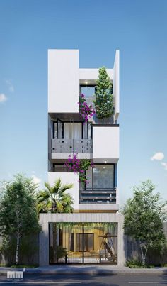 Flat House Design, Modern Exterior House Designs, Duplex House Design, House Front Design, Exterior Design, Modern House Floor Plans, Narrow Lot House Plans, Best Home Design Software, House Viewing