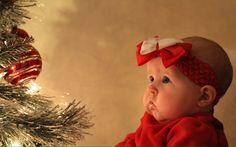 Molly's 3 month old Christmas pictures
