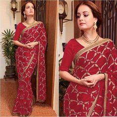 designer vichitra heavy embroidered bollywood saree