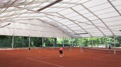 Shelter Sports Tent provides safest and most costeffective solutions for tennis court cover, football court, swimming pool cover and ice rink etc. The high roof of our sports tent Indoor Tennis, Indoor Basketball Court, Marquee For Sale, Sports Tent, A Frame Tent, Badminton Court, Shelter Tent, Tennis Clubs, Indoor Outdoor