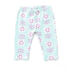 Kite Kids Baby Girl Linear Flower Cropped Legging