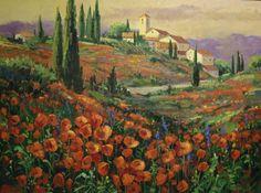 Tuscan Paintings   Tuscan Art   David Jackson Studio