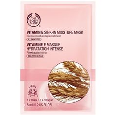 The Body Shop Vitamin E Sink-In Moisture Mask - Single Use 0.2 fl oz... ($2.50) ❤ liked on Polyvore featuring beauty products, skincare, face care, face masks, fillers, beauty, pink, cosmetics, makeup and hydrating mask