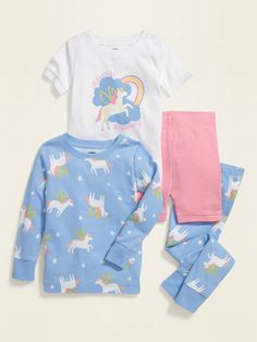 Find adorable toddler girl pajamas at Old Navy. Get separates and sets in this stock of pajamas for little girls. Toddler Girl Outfits, Kids Outfits, Girls Clothes Shops, Baby Girl Pajamas, Newborn Baby Dolls, Shop Old Navy, Outfit Sets, Winter Springs, Pajama Set