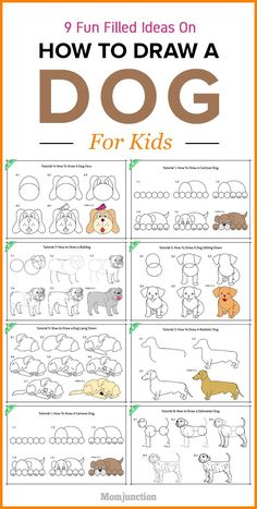 A lot of kids adore dogs and puppies. If you want to know how to draw a dog for your kids, then we have the simplest ways for you to indulge in that love. catch fun and reliev stres with these beautiful doodle coloring pages.click this pin for more. Learn Art, Learn To Draw, Projects For Kids, Art Projects, Drawing Videos For Kids, Dog Drawing For Kids, Drawing Ideas, Drawing Lessons For Kids, Drawing Drawing