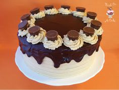 Bird On A Cake: Reese's Peanut Butter Chocolate Cake (I substituted Betty Crocker Triple Chocolate Cake)