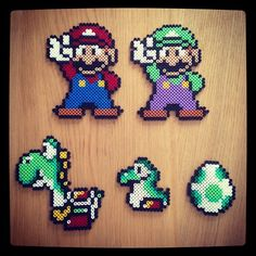 Super Mario hama beads by tezzangirl