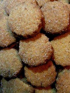 thick, crispy sugar cookies! Vegan Greek, Greek Recipes, Sugar Cookies, Desserts, Food, Tailgate Desserts, Deserts, Sugar Cookie Cakes, Meals