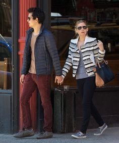 Kate Mara - Kate Mara and Max Minghella sneakers