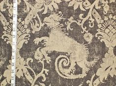 Medieval beasts fabric dog grey from Brick House Fabric: Novelty Fabric