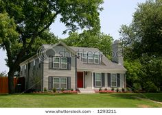 colonial style home with shutters