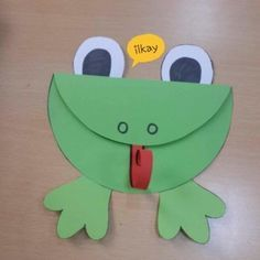 Frosch Craft Idea for Kids Frog Crafts Preschool, Kids Crafts, Animal Crafts For Kids, Spring Crafts For Kids, Summer Crafts, Toddler Crafts, Hobbies And Crafts, Diy For Kids, Arts And Crafts