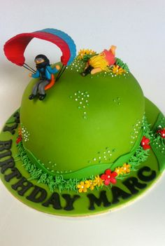 Paragliding & Photo Fan Birthday Cake.