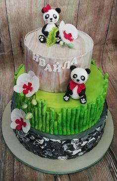 Panda for my baby by Galito Bear Cakes, Cake Cookies, Daily Inspiration, Amazing Cakes, Cake Ideas, Bears, Cake Decorating, Birthday Cake, Baking