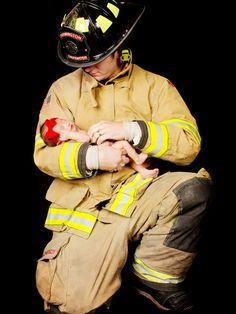 Anyone know of a fireman and his wife having a baby hook me up. Newborn Pictures, Baby Pictures, Baby Photos, Cute Pictures, Firefighter Baby, Firefighter Pictures, Female Firefighter, Love Photography, Newborn Photography