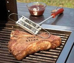 J-Creater BBQ Branding Iron with Changeable Letters Barbecue Steak Names Tool Outdoor