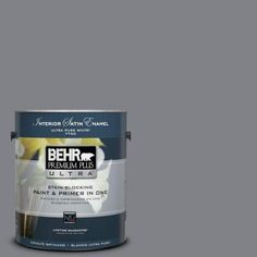 BEHR Premium Plus Ultra 1-gal. #N530-5 Mission Control Satin Enamel Interior Paint-775401 - The Home Depot I LOVE THIS COLOR SO MUCH