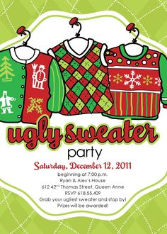 Edit Yourself Ugly Christmas Sweater Invitation Ugly Sweater Etsy within sizing 3000 X 2434 Ugly Sweater Invitation Template - Creating shower invites Christmas Party Invitation Template, Surprise Birthday Invitations, Christmas Party Invitations, Invitation Templates, Printable Party, Christmas Stationery, Invitation Wording, Invitation Ideas, Invites