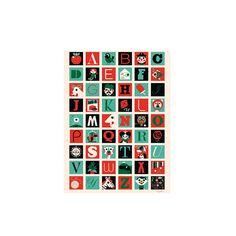 A-Z Poster by Ingela (50x70cm)