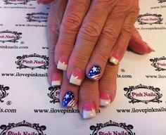 forth july pedicure - Saferbrowser Yahoo Image Search Results Holiday Nail Designs, New Nail Designs, Holiday Nail Art, Holiday Fun, Pink Nails, Gel Nails, Nail Polish, Toenails, Cute Nails