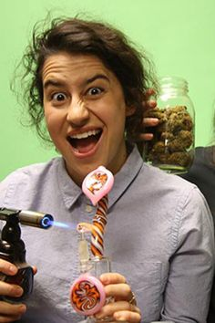 Name: Ilana Glazer Occupation: Co-star and co-creator of the Comedy Central series Broad City In addition to all that, Glazer has her own mini web series called Chronic Gamer Girl, which is a lot like what it sounds: a girl, some chronic, and some 1990s video games giving the world her two cents on anything that comes to mind. Courtesy of Comedy Central  - ELLE.com