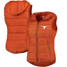 Texas Longhorns Women's Free Agent Quilted Full-Zip Vest - Texas Orange - $99.99