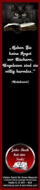 Lesezeichen Zitat Buch - am Lektorenstand als Give-away zum Mitnehmen - Leipziger Buchmesse, Halle 5, D 401-403 http://www.lektorat-ps.com/Lektorenstand-Buchmesse