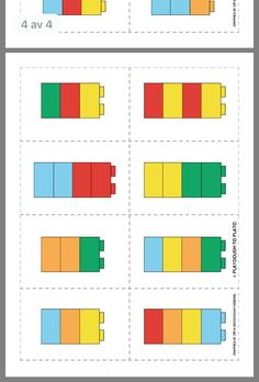 Discover thousands of images about Duplo mönsterkort Toddler Learning Activities, Preschool Learning Activities, Preschool Worksheets, Preschool Activities, Kids Learning, Preschool Lessons, Space Activities, Lego Therapy, Lego Math
