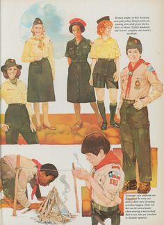 Scouting Magazine spread showcasing de la Renta's new uniform Boys Uniforms, Magazine Spreads, Many Men, Style Icons, Boy Or Girl, Clip Art, History, Celebrities, Fictional Characters