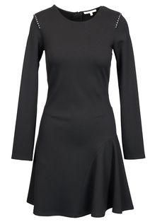 PATRIZIA PEPE BLACK VISCOSE DRESS. #patriziapepe #cloth Viscose Dress, Patrizia Pepe, Virtual Closet, High Neck Dress, Dresses For Work, Clothes, Shopping, Collection, Color