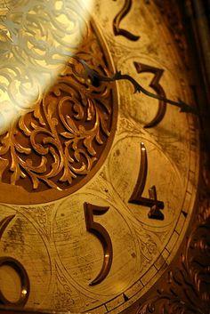 Wooden clock face