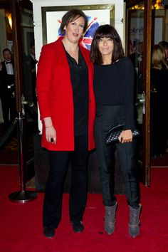 Miranda Hart and Claudia Winkleman at the Viva Forever! premiere