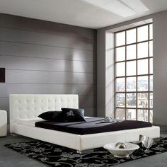 Polsterbett Sandra - Kunstleder - 180 x 200cm - Weiß