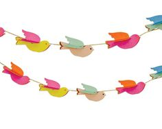 Mini Paper Birdie Garland   CAKEGIRLS