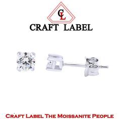 "1/2 Ct Round Brilliant Cut 14K Gold Solitaire Stud Earrings ""Mother\'s Day Gift"". Starting at $1"