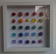 FEC Want in Black and White - Framed dice! Make effective gamer geek artwork by simply framing some dice!