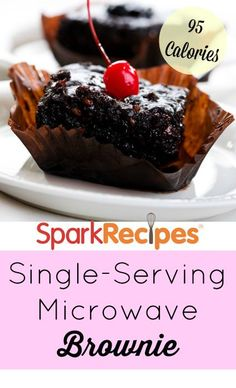 Like a 'No Pudge' fudge brownie in 1 minute: Low fat, low cal, even some fiber! Save this single serving recipe for when you don't want a whole batch to tempt you! via @SparkPeople