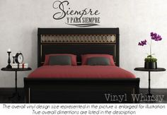 Vinyl Wall Art - Spanish Quote - Siempre Y Para Siempre / Always And Forever - Vinyl Lettering - Decal - VRDSP007