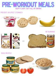 Great Pre-Workout Meals! Get more #nutrition advice on popexpert.com