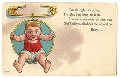 Antique baby announcement