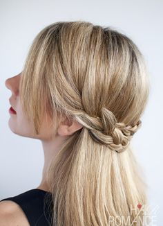 Hair Romance - half crown braid