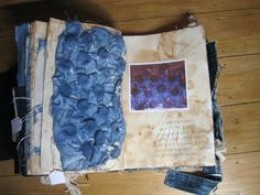 Denim Decay: Textile Manipulation for fashion - fashion design sketchbook with manipulated fabric sample