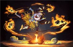 Flame Tamer and her Ember Sprites on Behance ★ Find more at http://www.pinterest.com/competing/