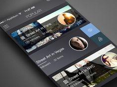 Free psd - Carousel app - Popular
